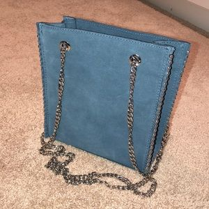 Zara Blue Over the Shoulder Bag